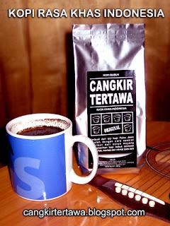 kopi bubuk cangkir tertawa rasa khas indonesia