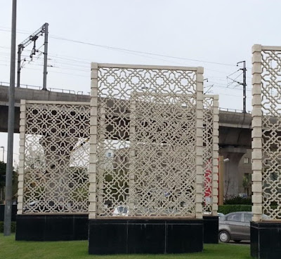 krawangan GRC sebagai panel dekoratif luar ruangan