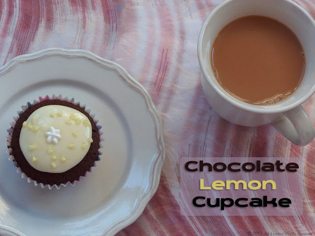 chocolate lemon cupcakes recipe | Halal Home Cooking