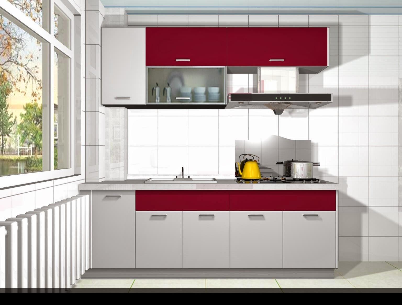 os armários para cozinha de aço e de madeira são #740B21 1536 1167