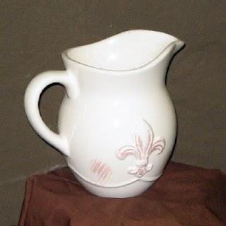 Buy Wholesale Fleur-de-Lis Ceramic Pitchers