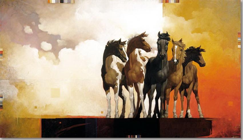 Im genes arte pinturas vistosos caballos en cuadros - Lo ultimo en cuadros modernos ...
