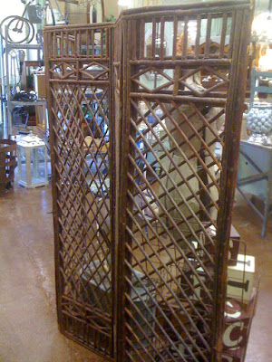 hand-made rustic divider