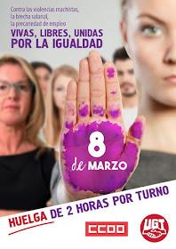 8 de Marzo: Vivas, libres, unidas por la igualdad