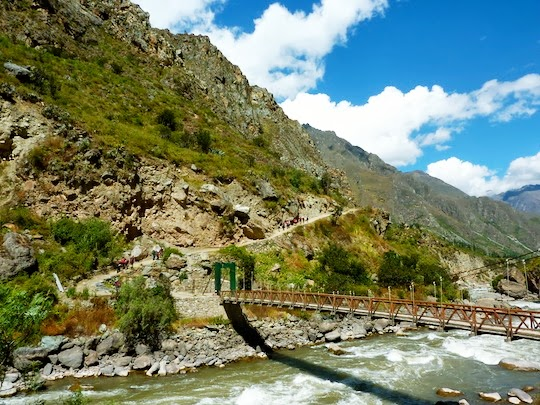 Railroad K82 Bridge over the Urubamba River Inca Trail