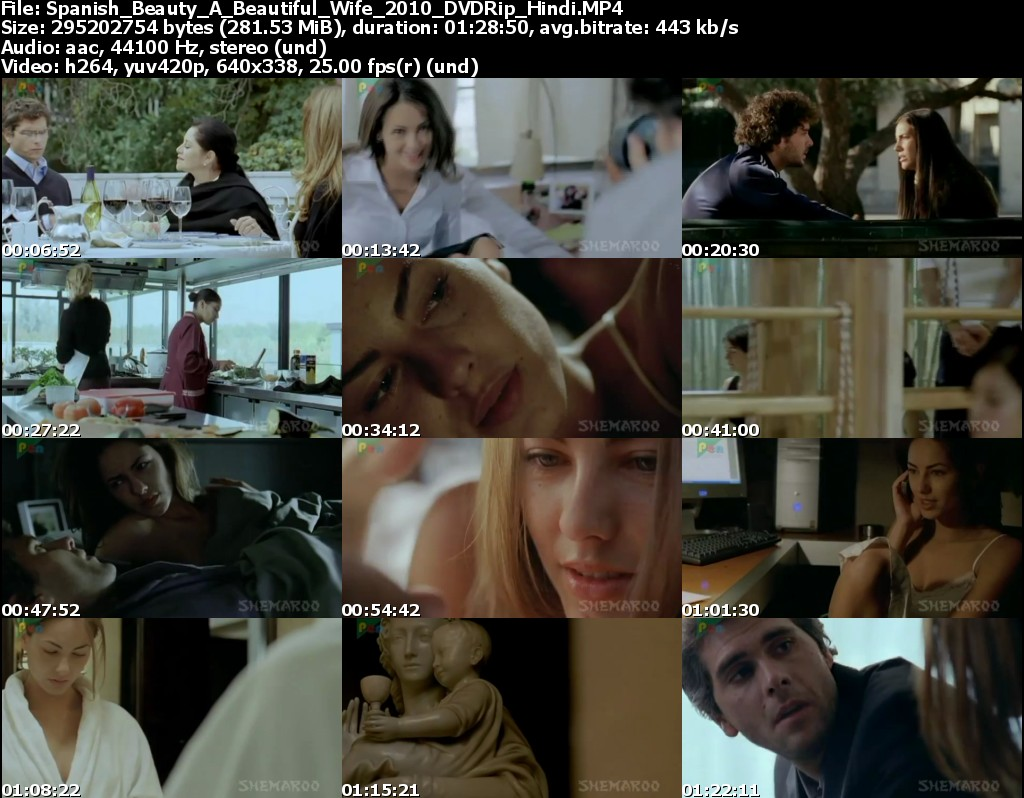 Free Download Spanish Beauty A Beautiful Wife (2010) DVDRip Hindi ...