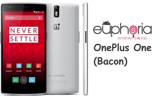 Euphoria Os custom rom On OnePlus One Bacon