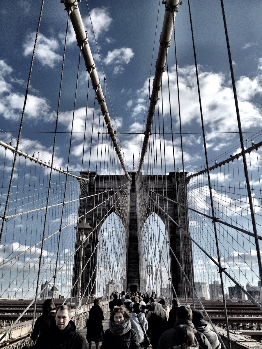 The Brooklyn Bridge, taken using Camera+