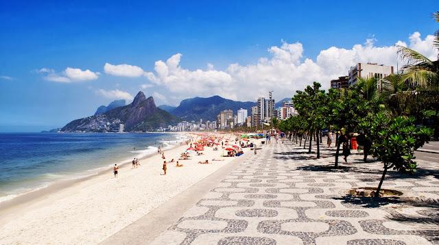 boardwalk, Ipanema, Dois Irmaos, Rio de Janero, Rio, Brazil