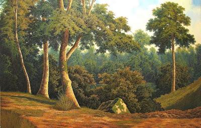 paisaje-con-bosque-al-oleo