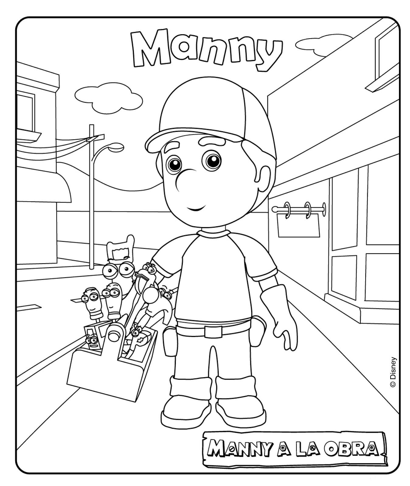 Dibujos de Manny a la obra para colorear | Dibujos Para Colorear