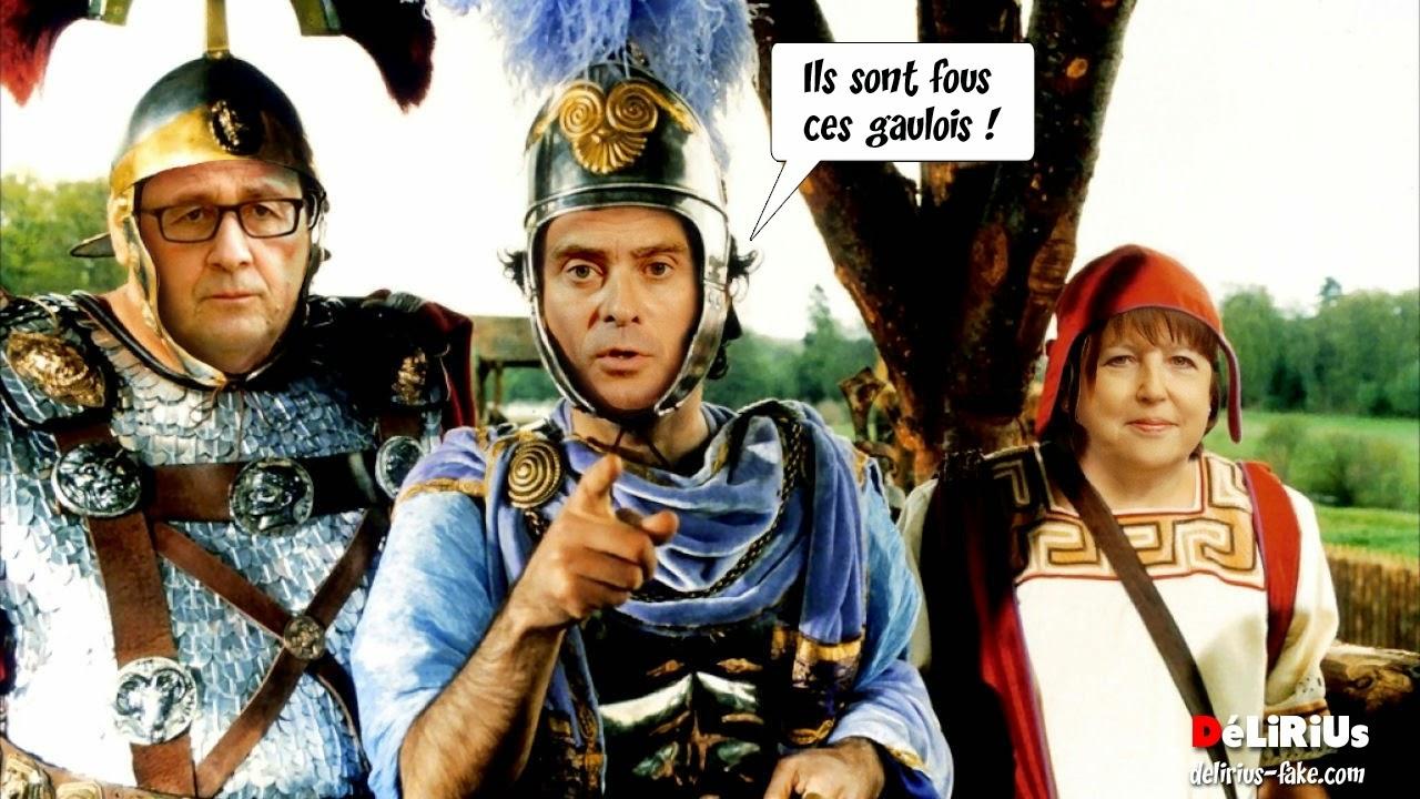 Valls, Hollande et Aubry dans Astérix