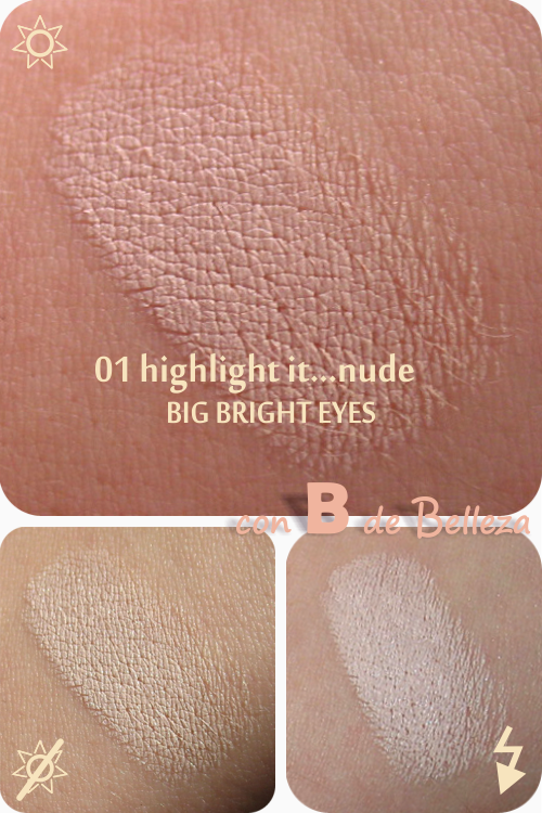 Big bright eyes Highlight it...nude