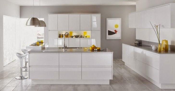 Pesona Keindahan Dapur dengan Dominasi Warna Putih