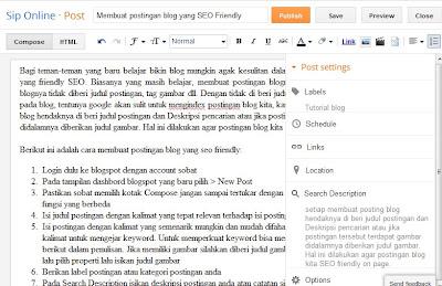 Gambar editor postingan blogspot