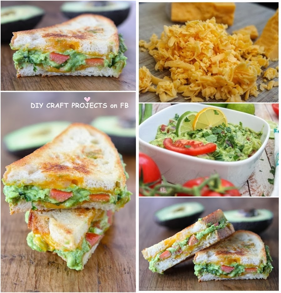 DIY Guacamole Grilled Cheese Sandwich - DIY Craft Projects