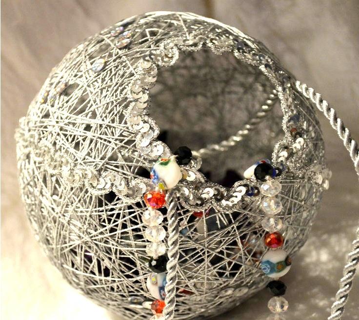 Фото шаров из ниток своими руками 144