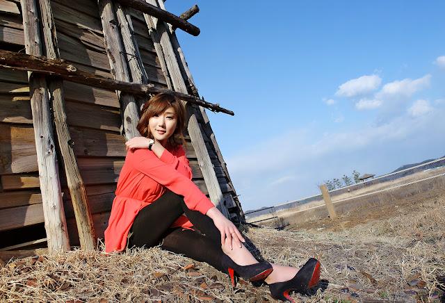 3 Nam Eun Ju in Red-very cute asian girl-girlcute4u.blogspot.com