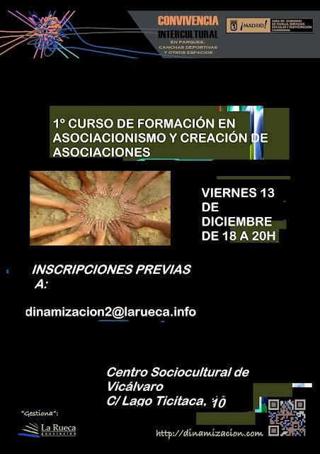 Curso de formación en asociacionismo y creación de asociaciones - Vicálvaro