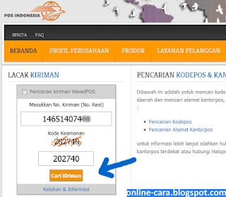 Lacak Kiriman Pos online
