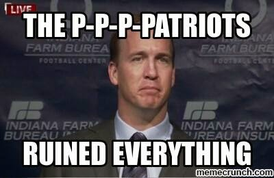 the p-p-p-patriots ruined everything - #patriots #broncoshaters #peyton