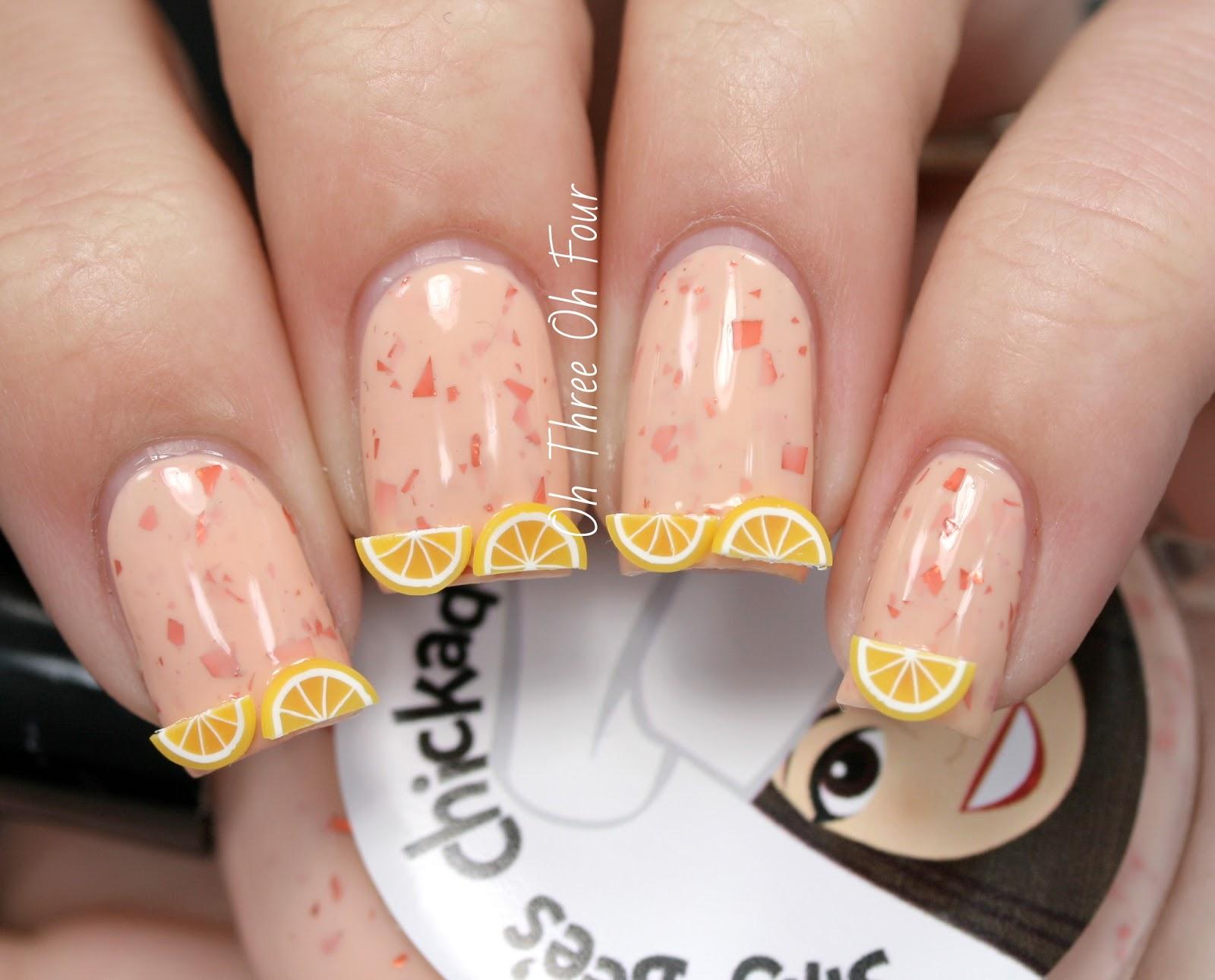 Silly Bee's Chickadees Orange Cream Pie nail art