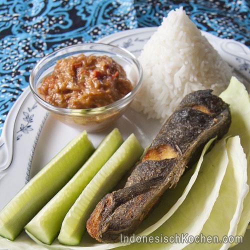 Katzenfisch mit Sambal-dip indonesisch rezept