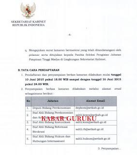 Tata Cara Pendaftaran Seleksi Terbuka Calon Pimpinan Tinggi Madya Tahun 2015.
