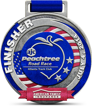 Peachtree Road Race 2014 Finisher
