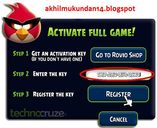 AKHIL MUKUNDAN: Angry Birds Space Activation Key & Tips For