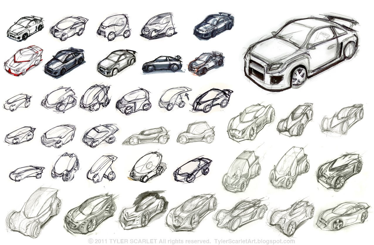 Tyler Scarlets Art Blog: I learned How To Draw Cars!!!!