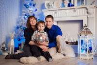 Ольга с семьёй