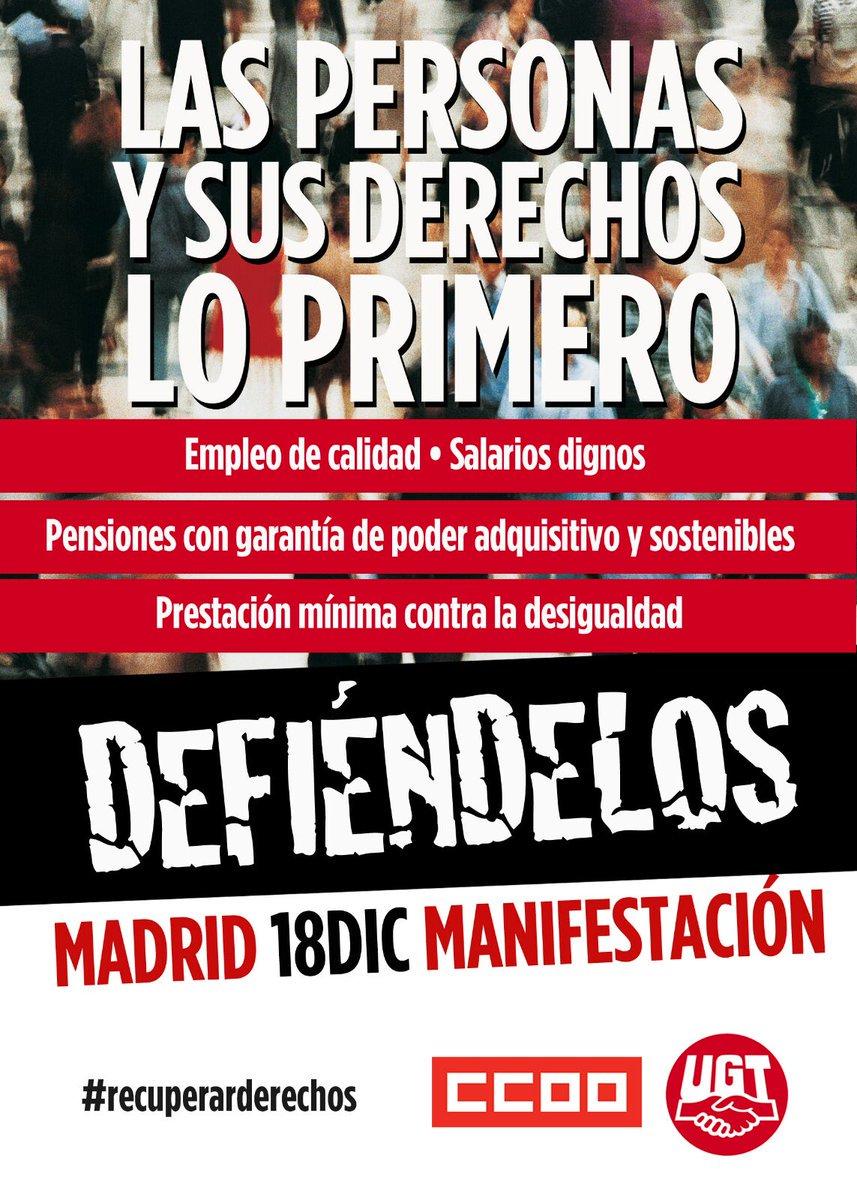 18 diciembre en Madrid Defiende tus Derechos