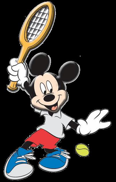 Mickey jugando al tenis