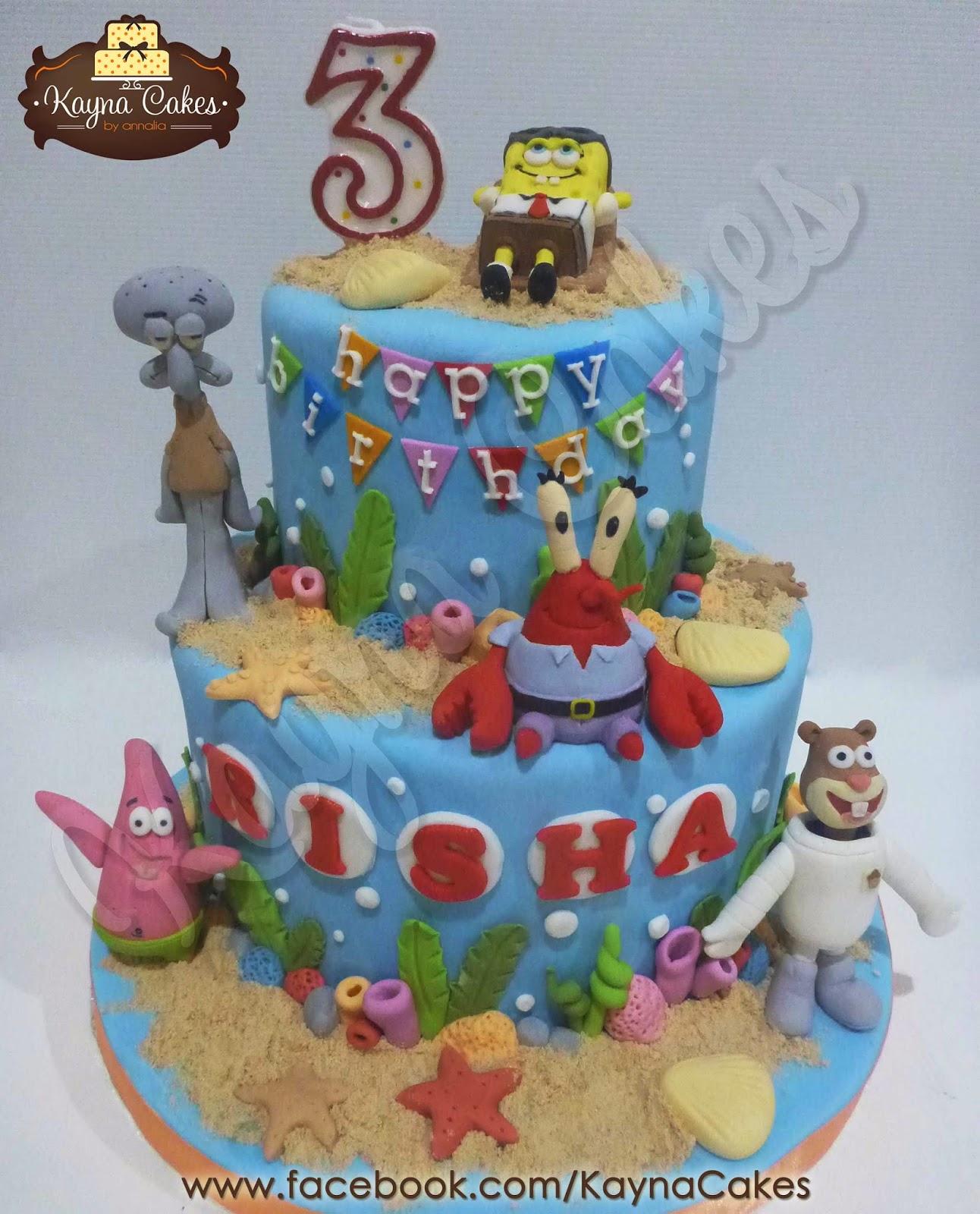 Kayna Cakes and Cupcakes Rishas 3rd Spongebob cake