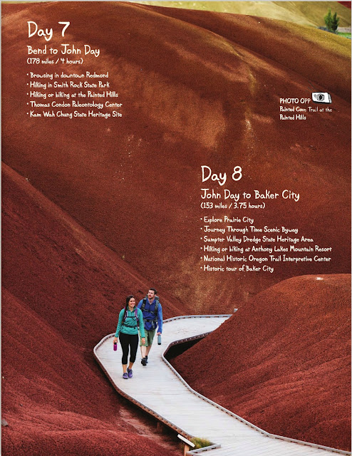 Hikers in the Painted Hills Oregon, 7 Wonders of Oregon