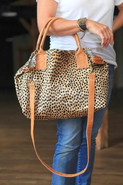 cheetah, commuter tote, Ceri Hoover, Nashville