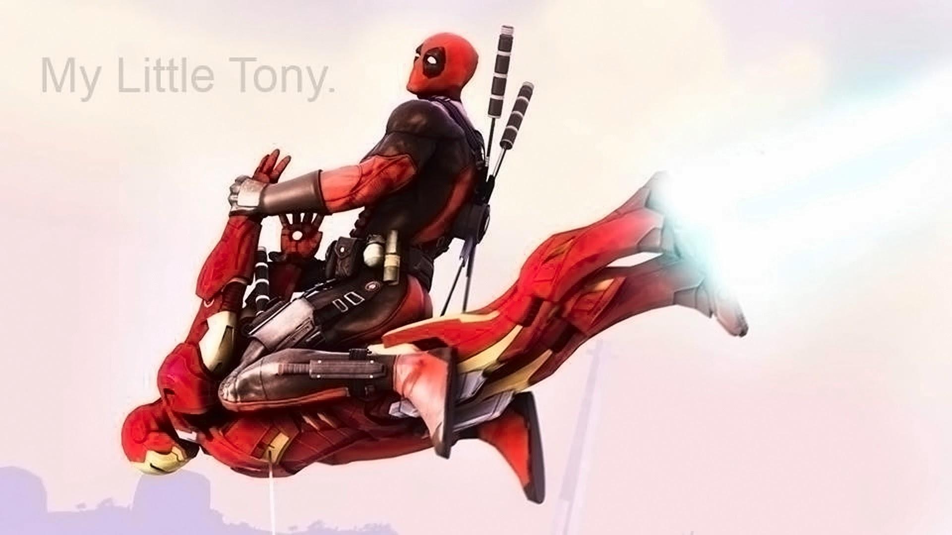 Deadpool Iron Man Riding A83 HD Wallpaper