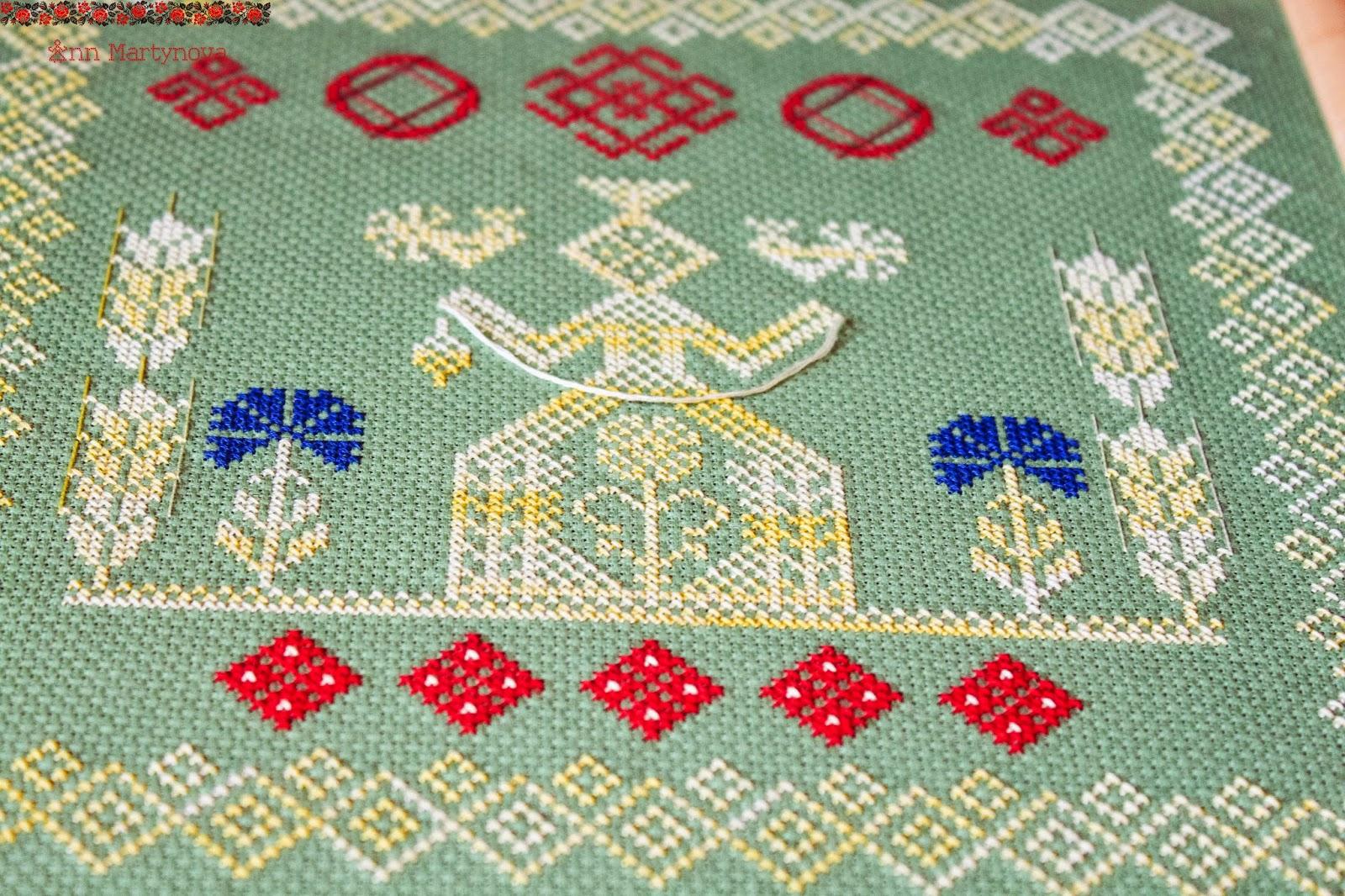 Схема вышивки макоша