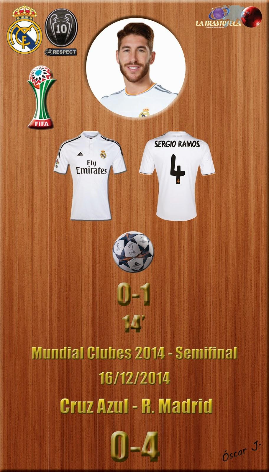 Sergio Ramos (0-1) - Cruz Azul 0-4 Real Madrid - Mundial de Clubes de la FIFA MARRUECOS 2014 - Semifinales (16/12/2014)