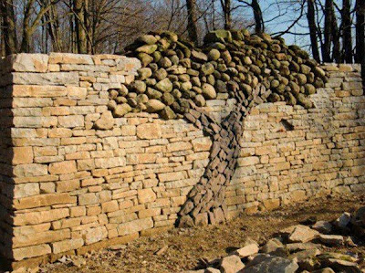 great stone wall idea