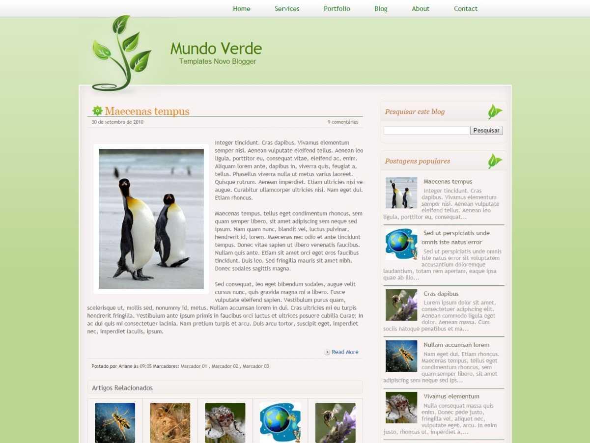 Muindo Verde Personal Blogger Template