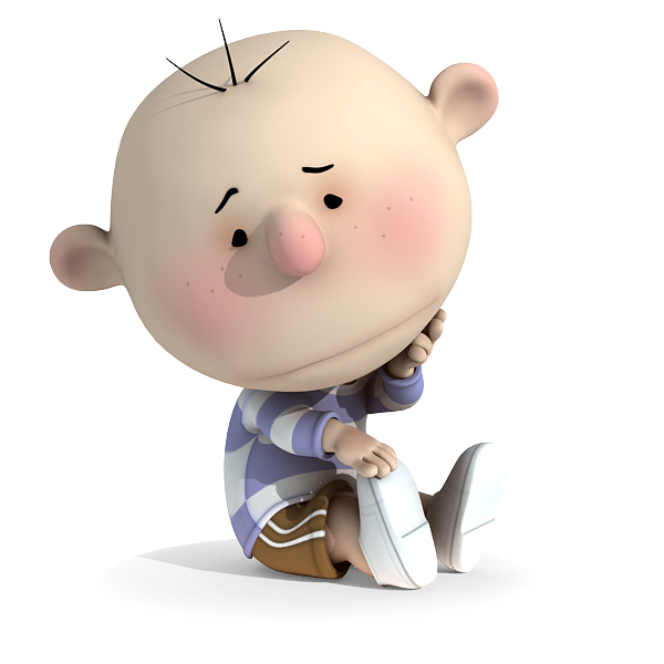 Sad Kid Missing Someone 3D Cartoon | 3D Cartoon Models