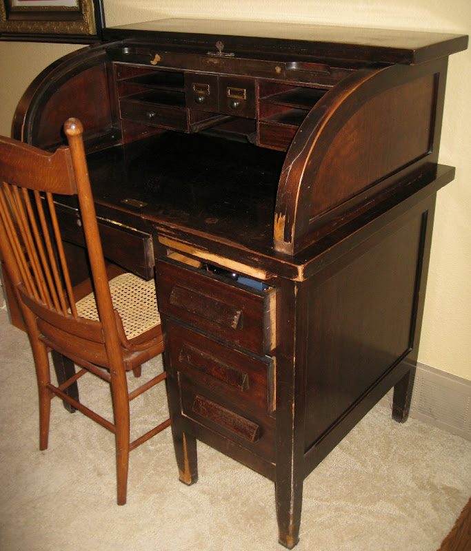 Roll Top Secretary Desk