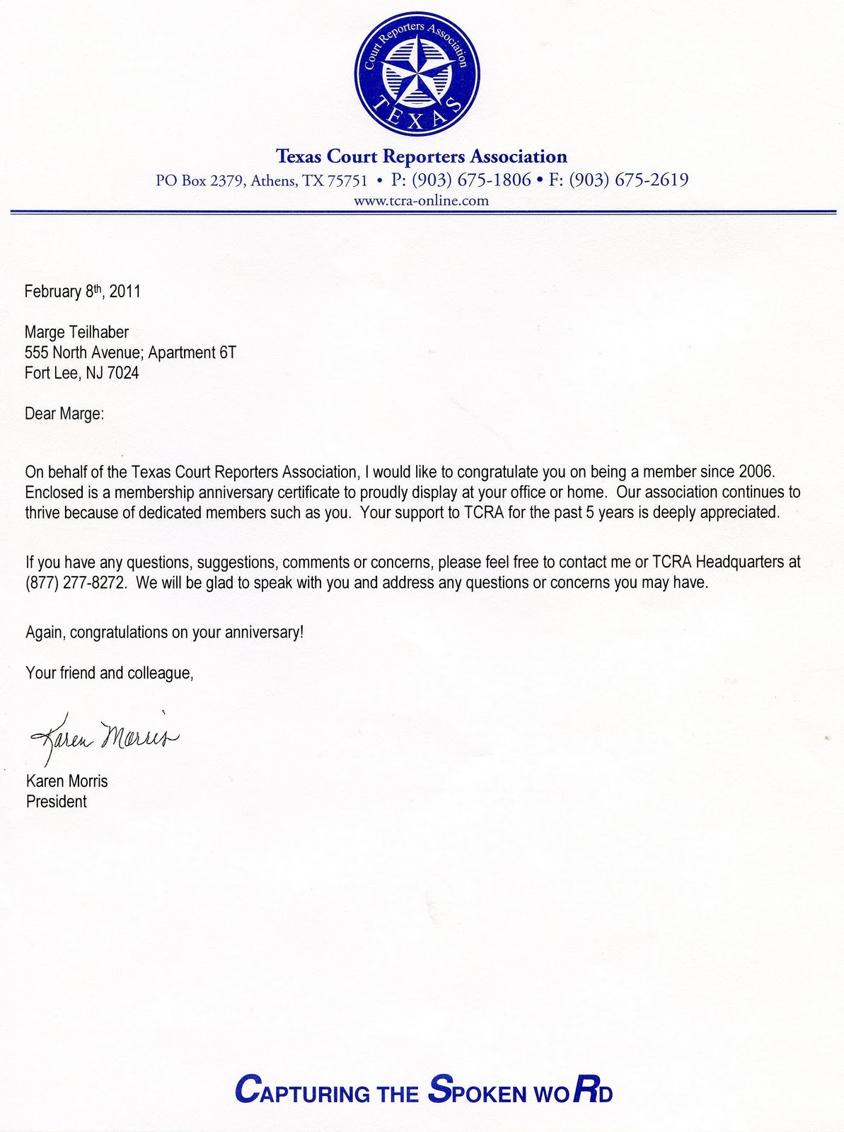 Marge Teilhaber Nyctnj Freelance Court Reporter Texas Court