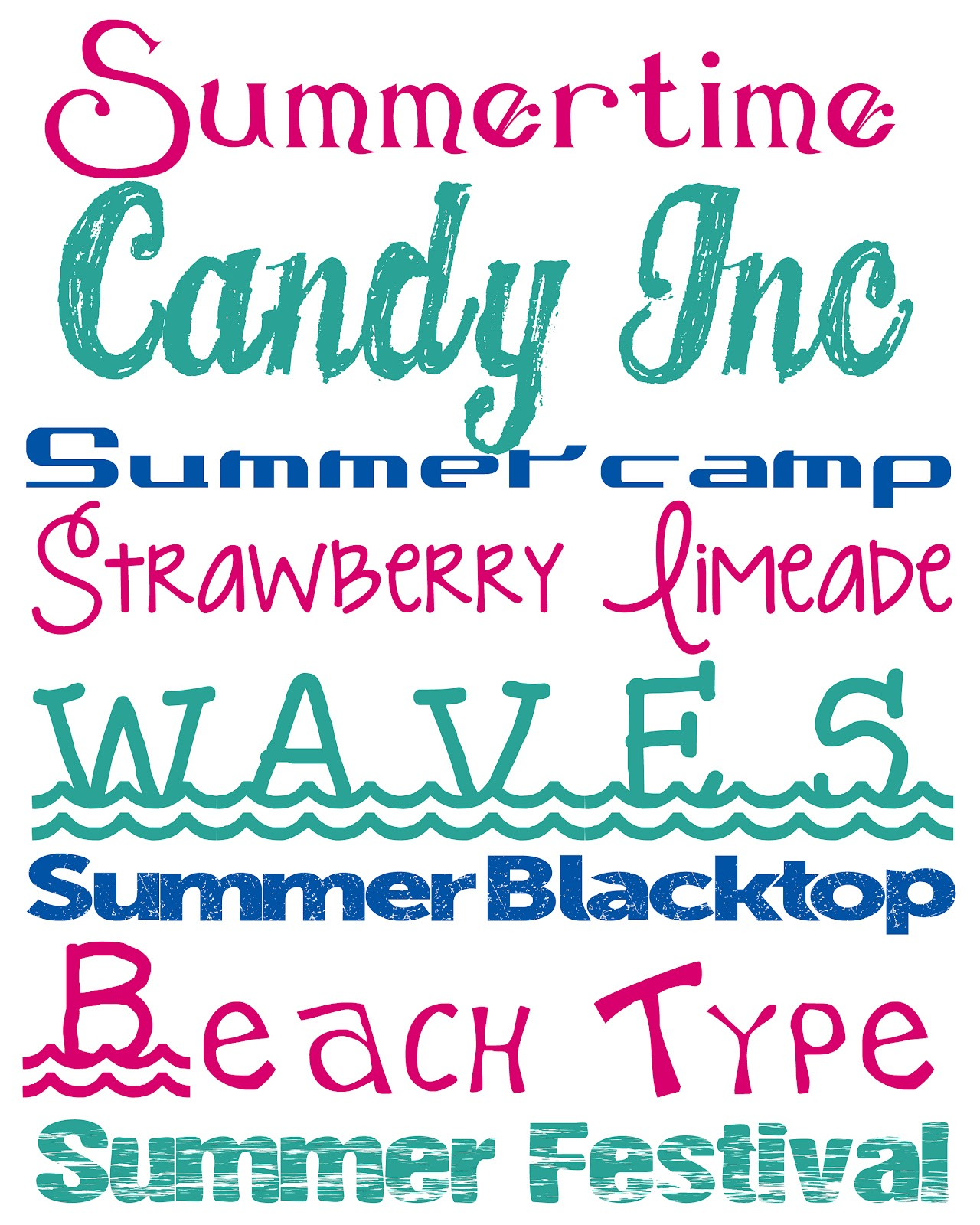 Summer fonts free summer fonts