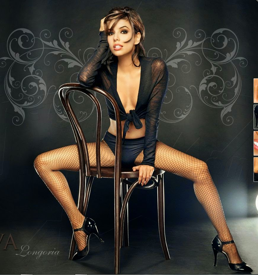 Eva Longoria sexy legs in fishnets