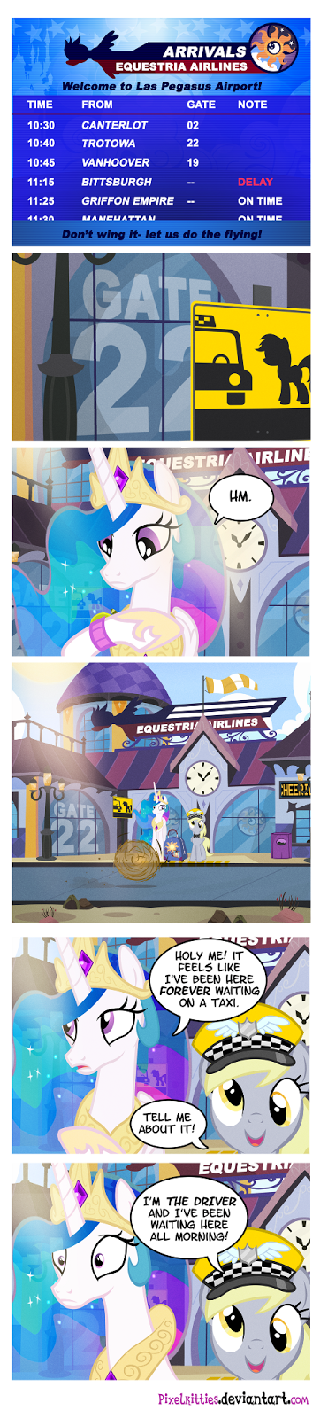 Apparently Princess Celestia (and Cheerilee!) herself, Nicole Oliver, was stranded at Las Vegas airport on her way to Unicon yesterday!