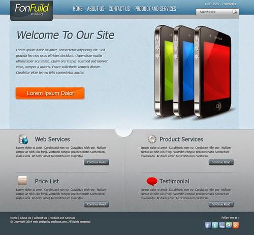 Free Template PSD - FonFuild