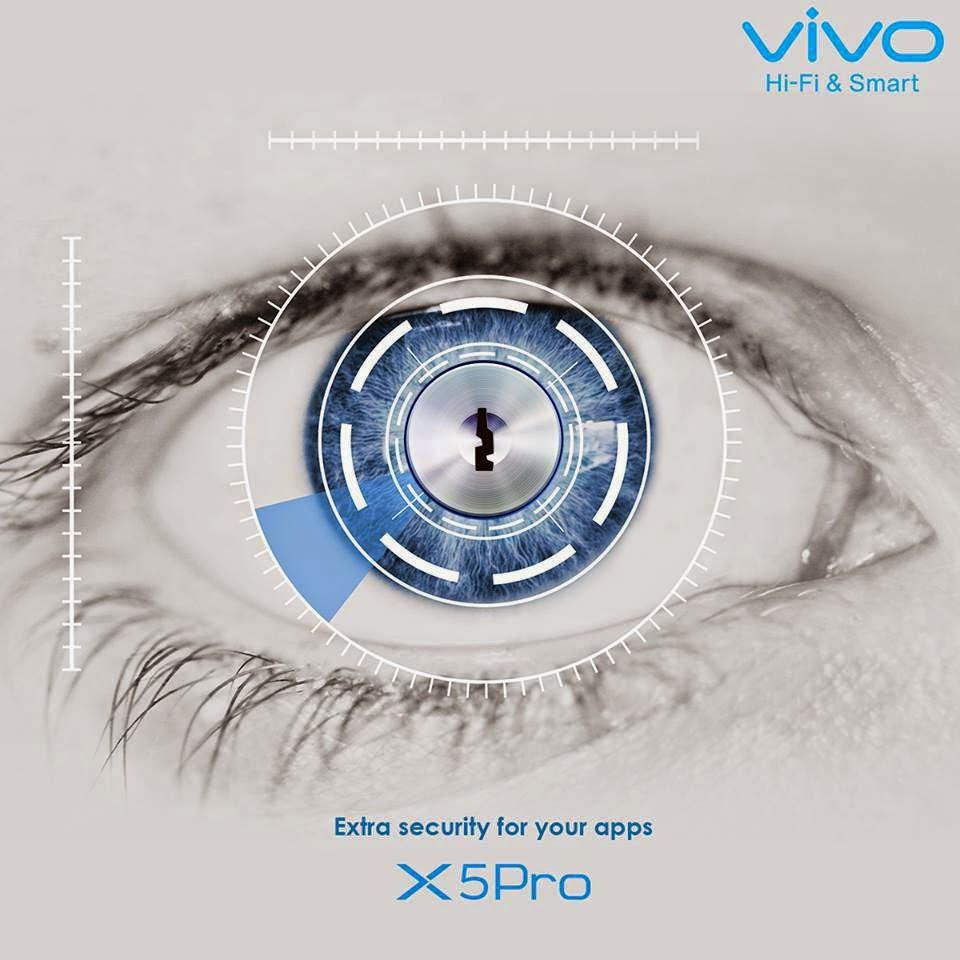 Vivo X5 pro-retia scanner